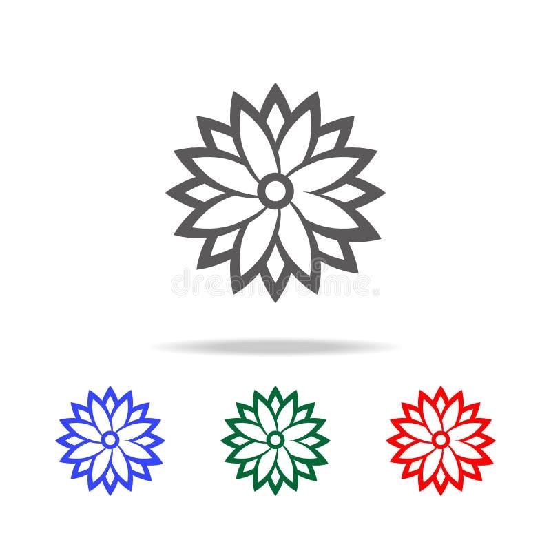Indisch patroonpictogram Elementen van Indische cultuur multi gekleurde pictogrammen Grafisch het ontwerppictogram van de premiek vector illustratie
