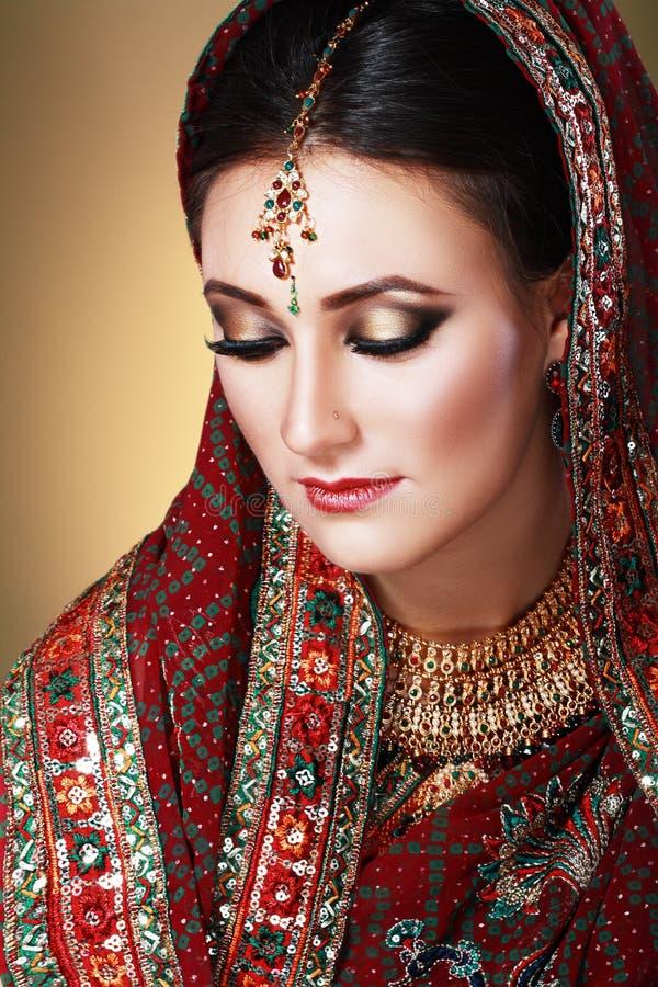 Indisch schoonheidsgezicht royalty-vrije stock foto's