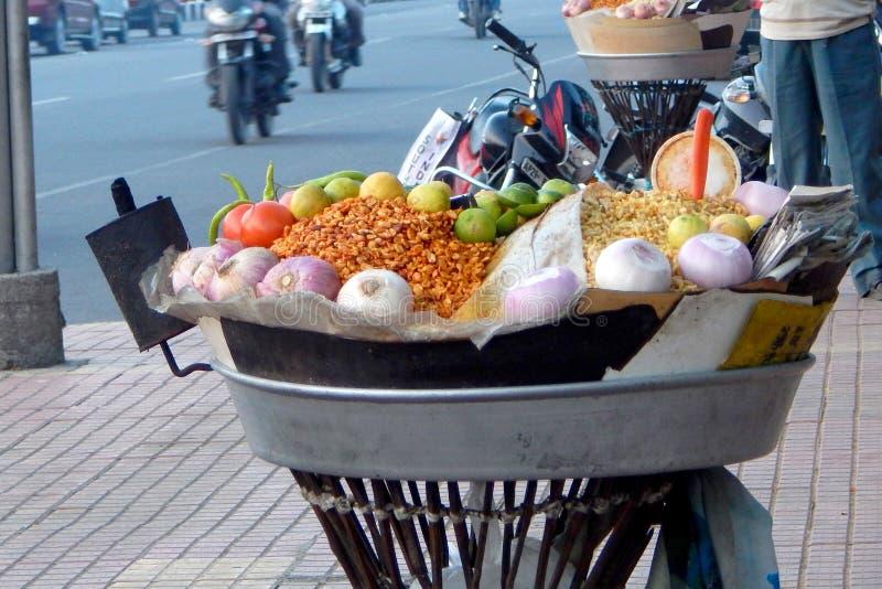Indisch straatvoedsel stock foto's