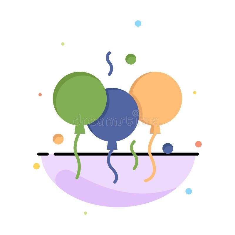 Indisch, Tag, Ballon, Indien-Zusammenfassungs-flache Farbikonen-Schablone lizenzfreie abbildung