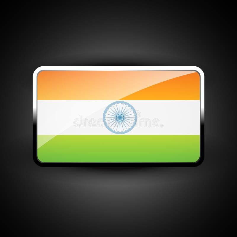 Indisch vlagpictogram royalty-vrije illustratie