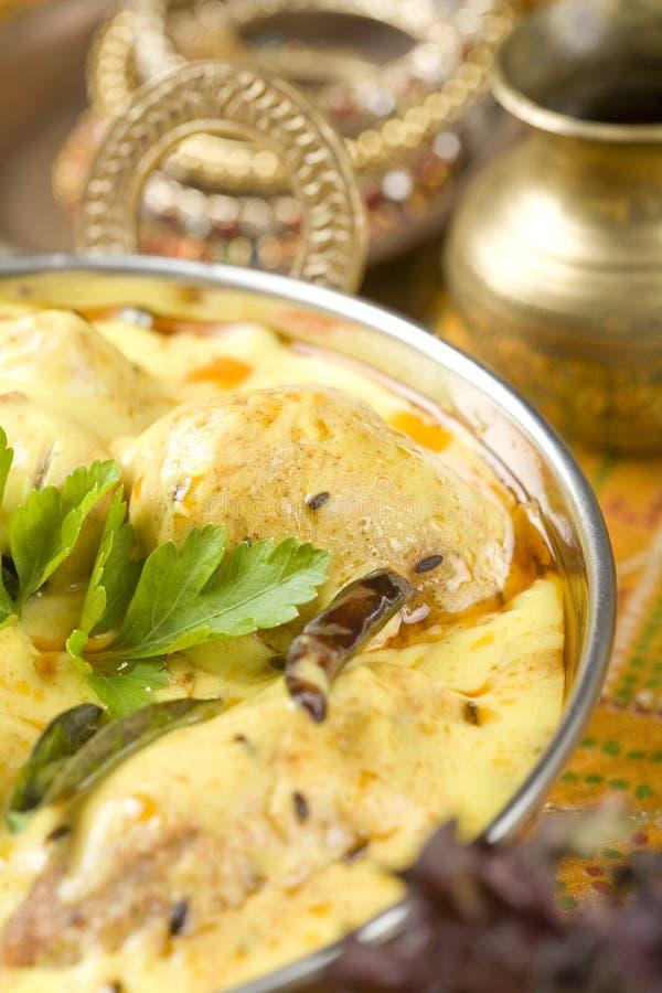 Indisch voedsel Kadhi. royalty-vrije stock afbeeldingen