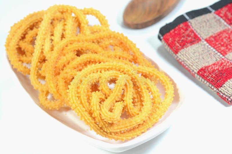 Indisch Voedsel Murukku stock afbeeldingen