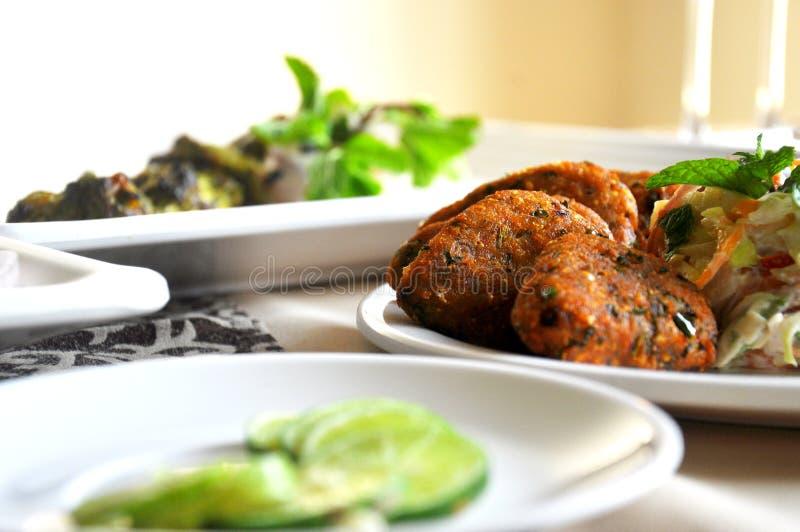 Indisch voedselhoofdgerecht stock foto
