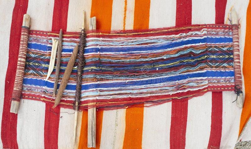 Indisch weefgetouw stock afbeelding
