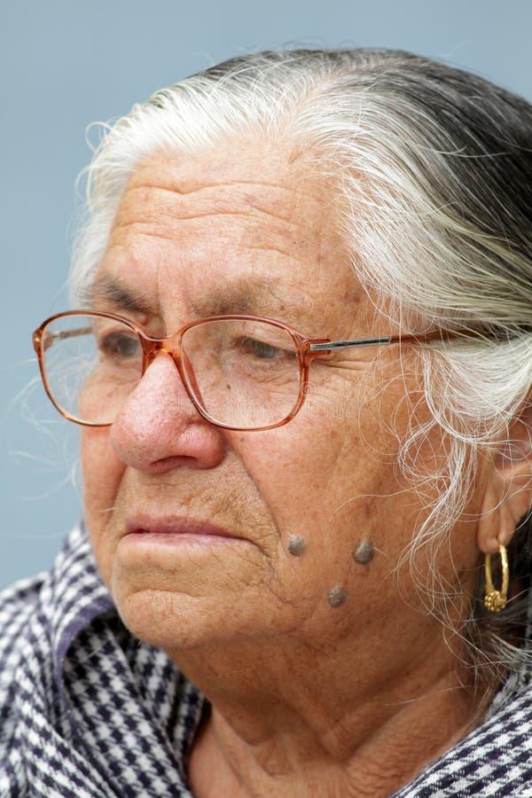 Indische alte Frauen stockfotografie