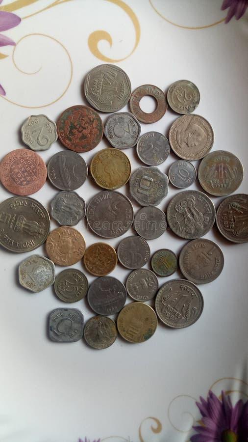 Indische alte M?nzen stockfotografie