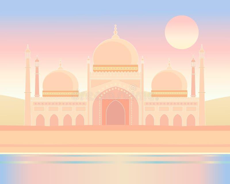 Indische Architektur lizenzfreie abbildung