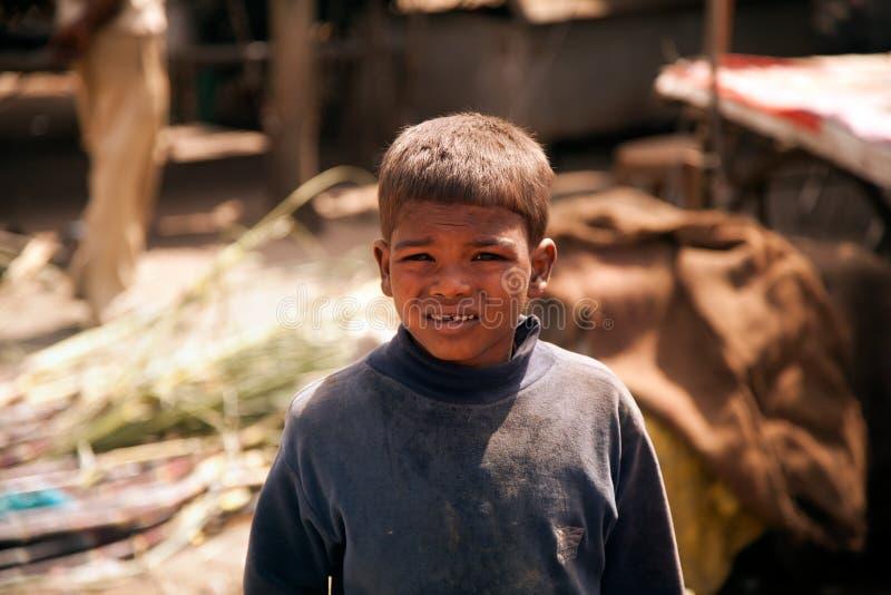 Indische arme Kinder (Bettler) stockbild