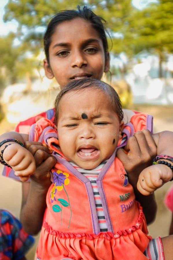 Indische Baby royalty-vrije stock afbeelding