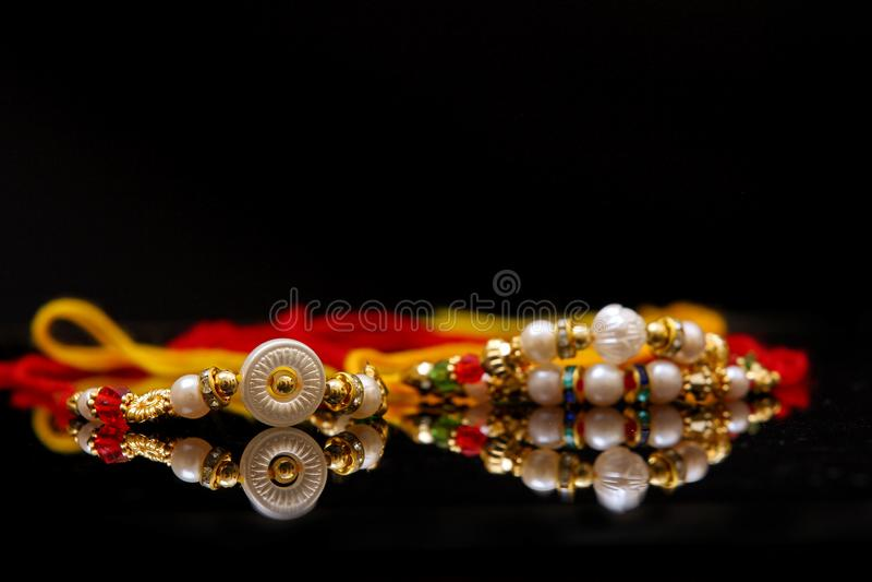 Indische bandhan festivalraksha, Rakhi royalty-vrije stock fotografie