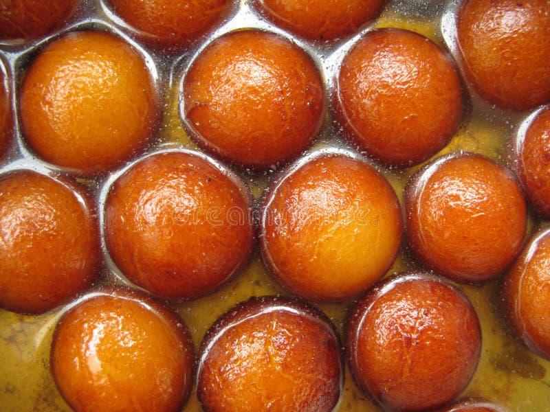 Indische Bonbons-Gulab Jamun stockbilder