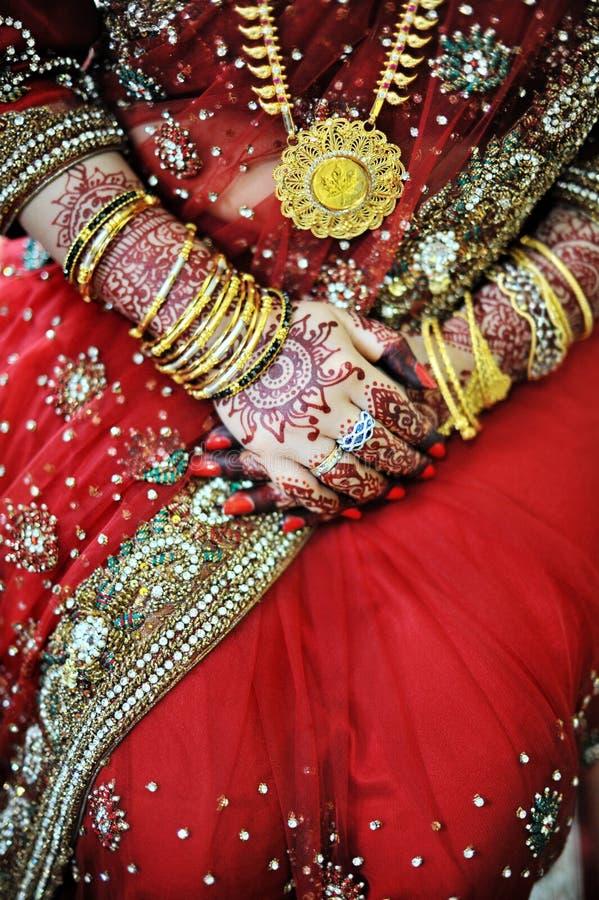 Indische Braut stockbild