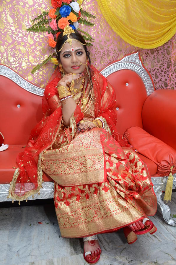 Indische Braut lizenzfreies stockfoto