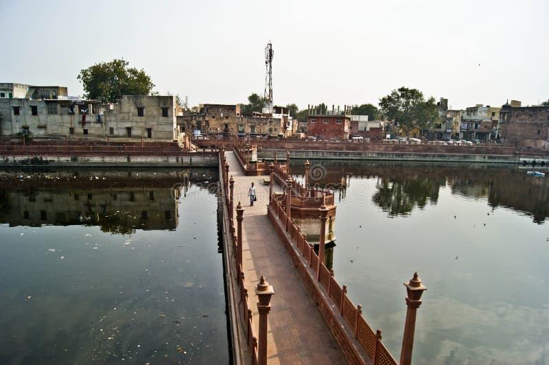 Indische brug stock foto's