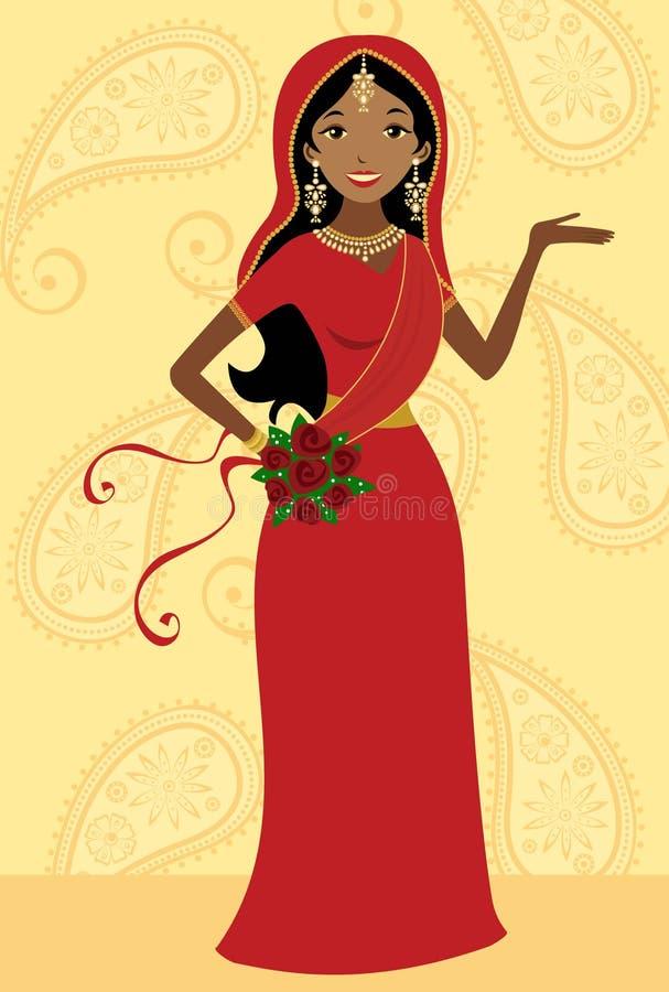 Indische bruid royalty-vrije illustratie