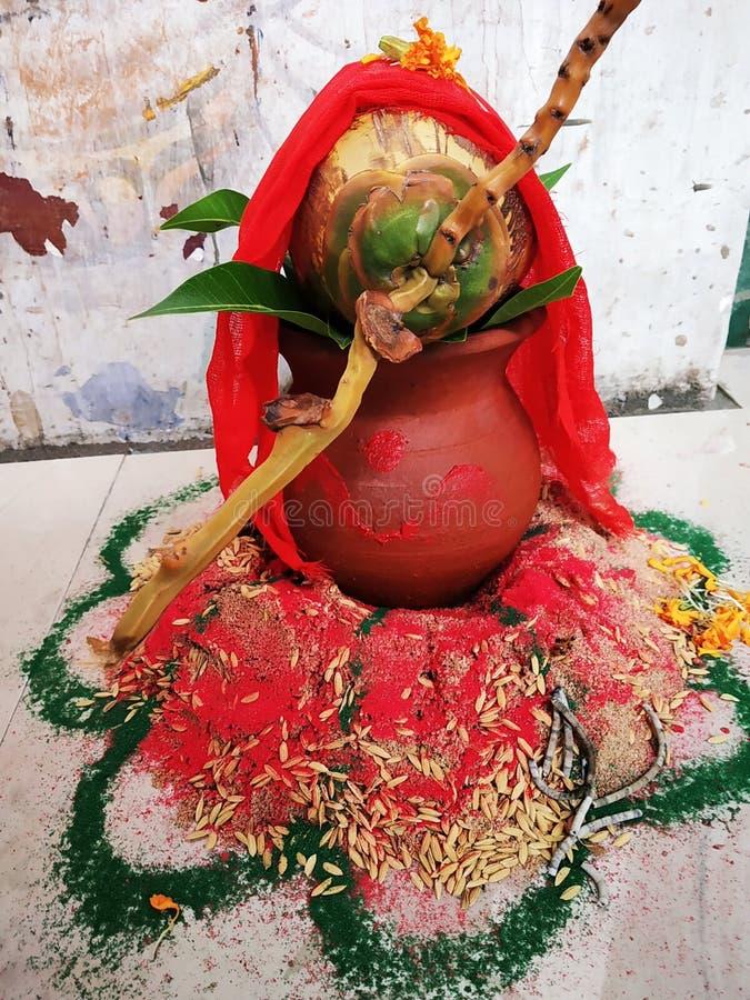 Indische Cultuur Indiër, festival, heilige puja, stock fotografie