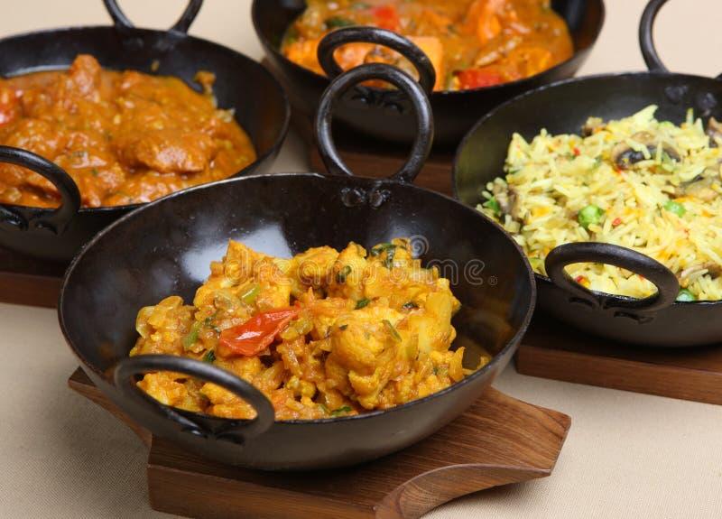 Indische Curry-Auswahl stockbild
