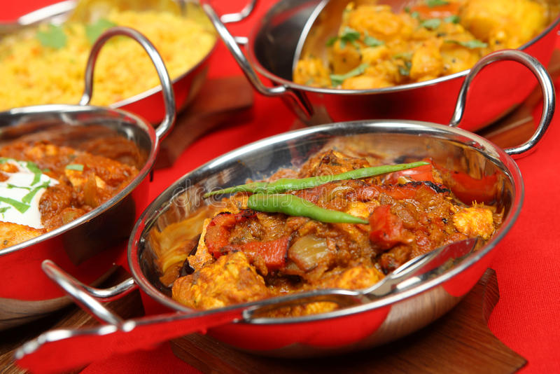 Indische Curry-Mahlzeit lizenzfreies stockfoto