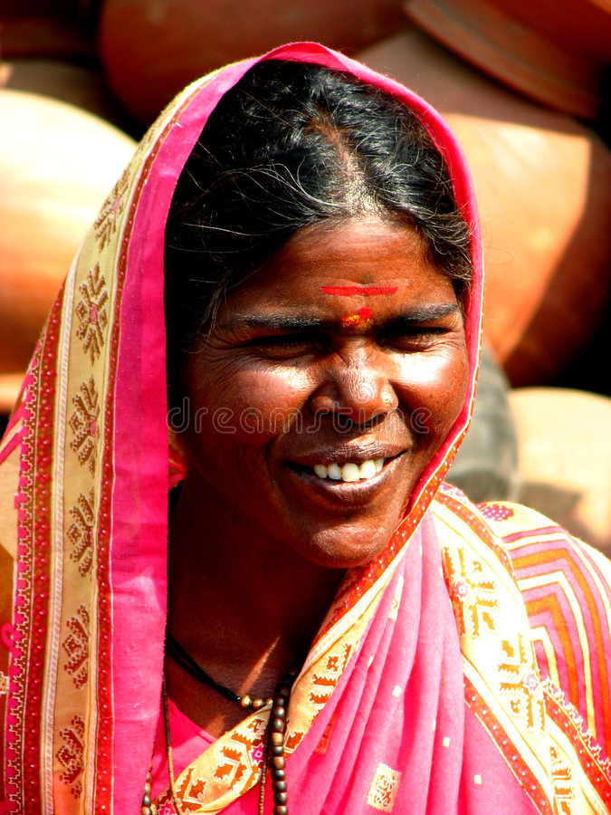 Indische Dame stockfoto