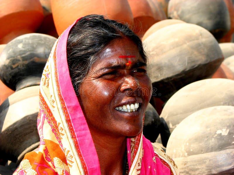 Indische Dame stock afbeelding