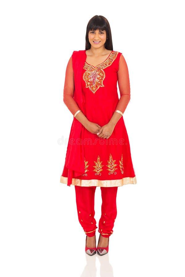 Indische dame status stock foto's