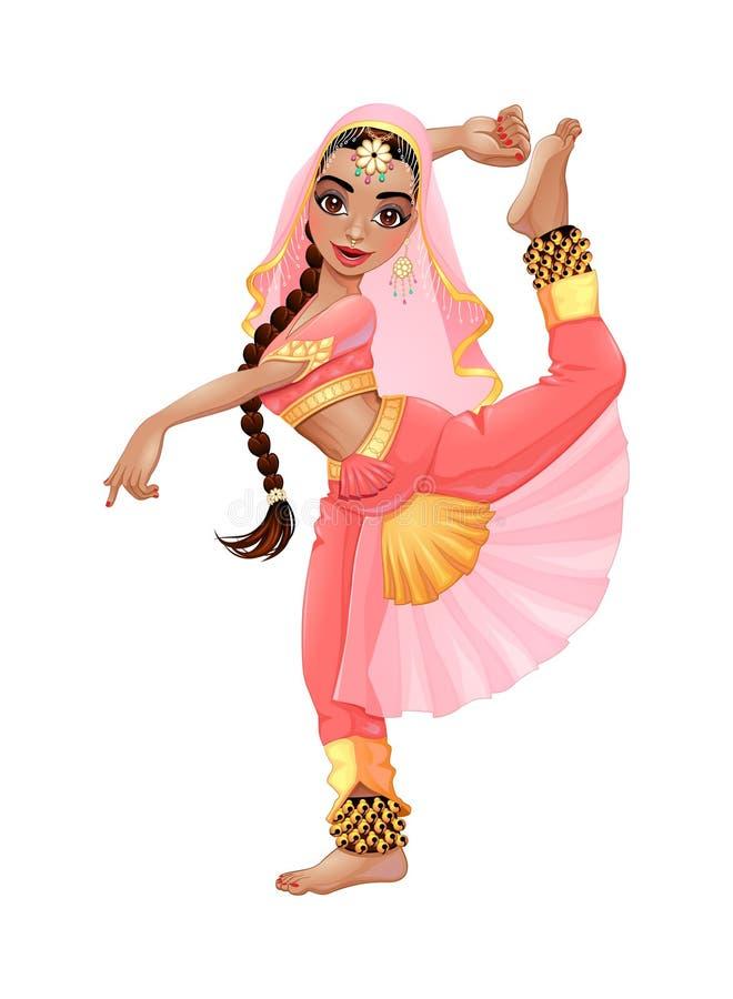 Indische Danser vector illustratie