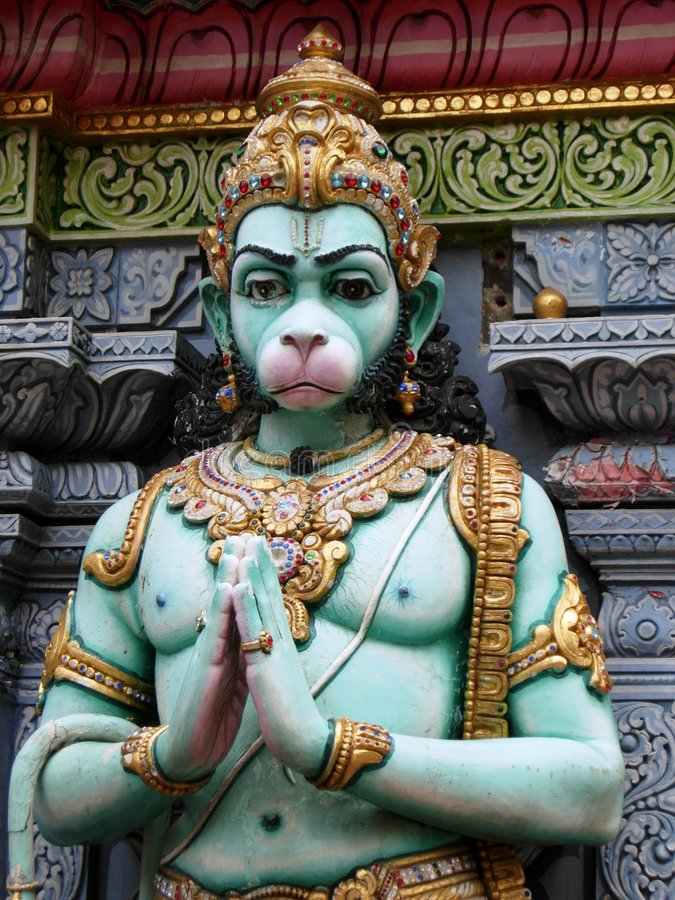 Indische deity Hanuman stock afbeelding