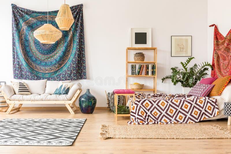 Indische doek in flat stock foto