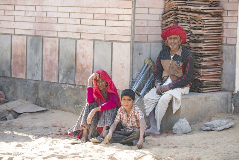 Indische dorpsbewoner stock fotografie