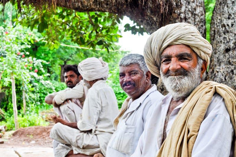 Indische dorpsbewoners royalty-vrije stock foto