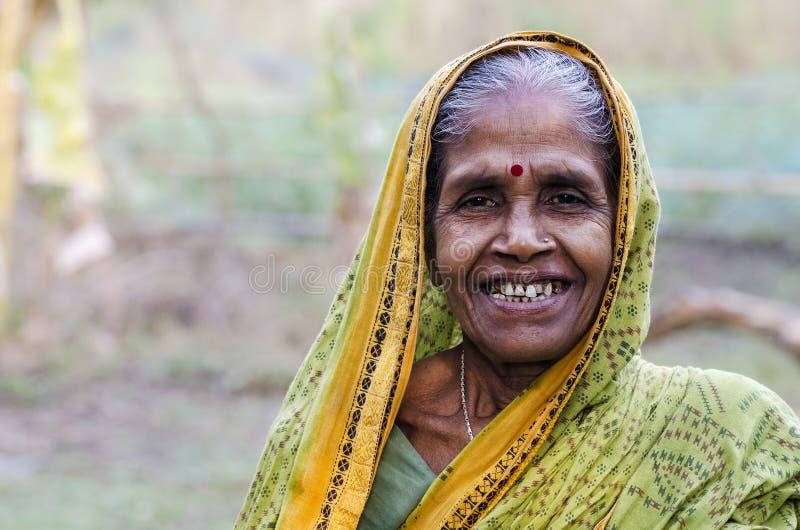 Indische Dorpsvrouw royalty-vrije stock foto's