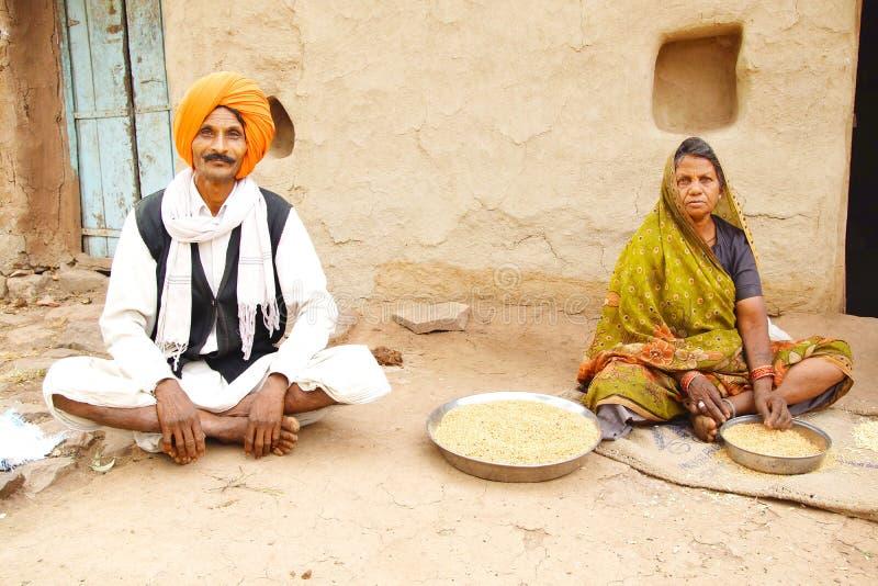 Indische familie. royalty-vrije stock afbeelding