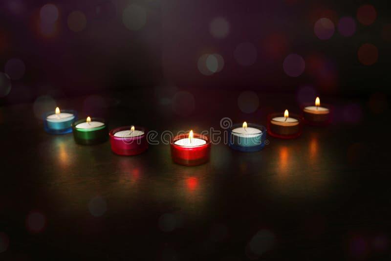Indische festivaldiwali Beeld van Diya-lampen stock foto