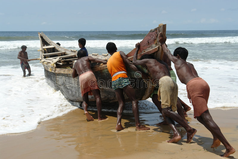 Indische Fischer lizenzfreies stockbild