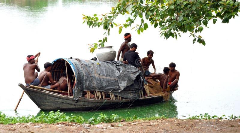 Indische Fischer stockfotografie