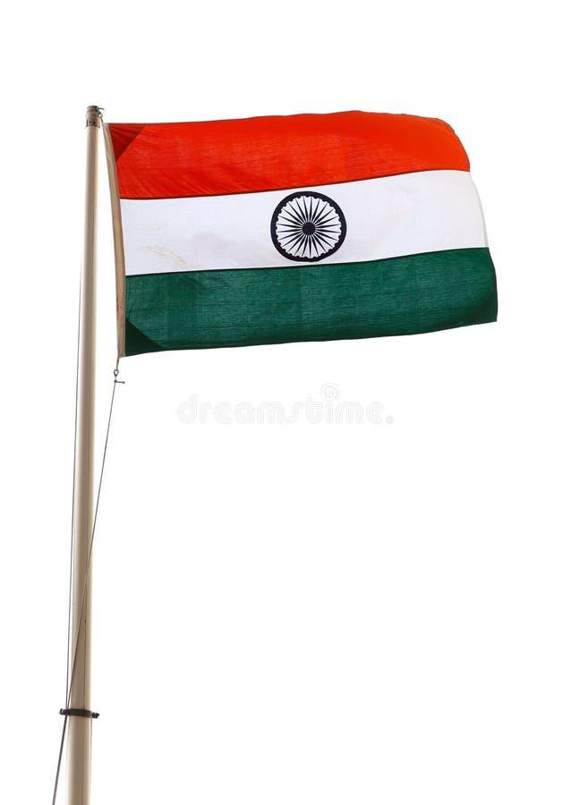 Indische Flagge stockfoto