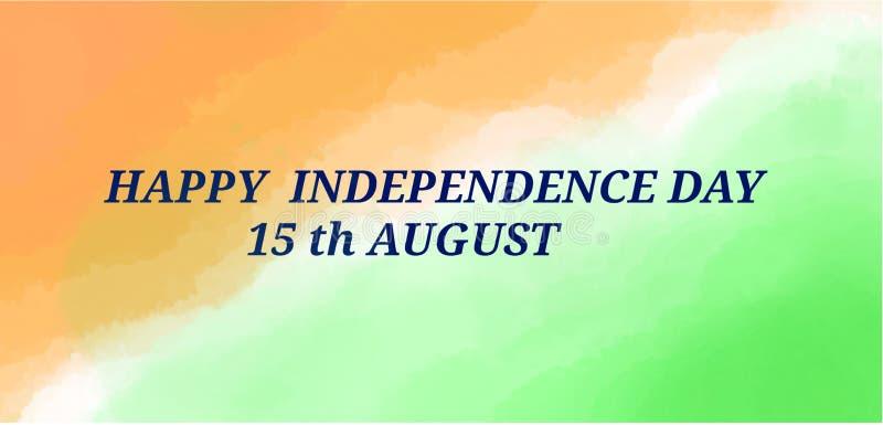 Indische Flaggenillustration mit Beschaffenheit lizenzfreie stockbilder
