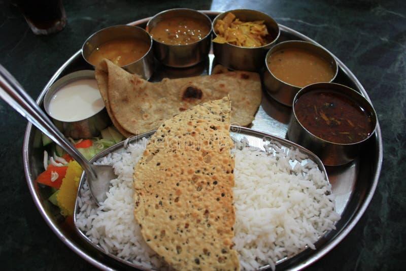 Indische voedselthali royalty-vrije stock fotografie