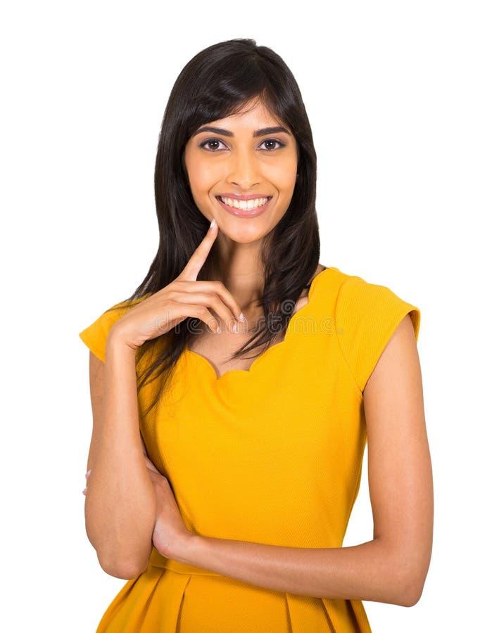 Indische Frau auf Weiß lizenzfreies stockbild