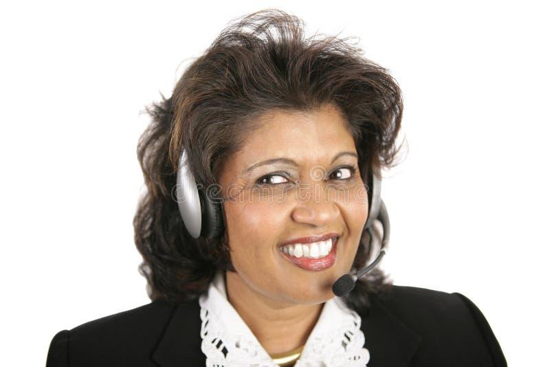 Indische Frau - Kopfhörer lizenzfreies stockbild