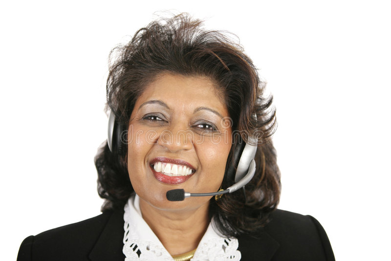 Indische Frau - Kundendienst stockbild