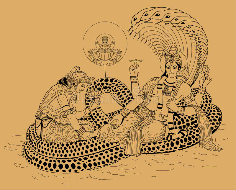 Indische god Shiva vector illustratie