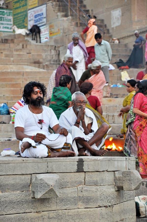 Indische Heilige Mensen royalty-vrije stock foto's