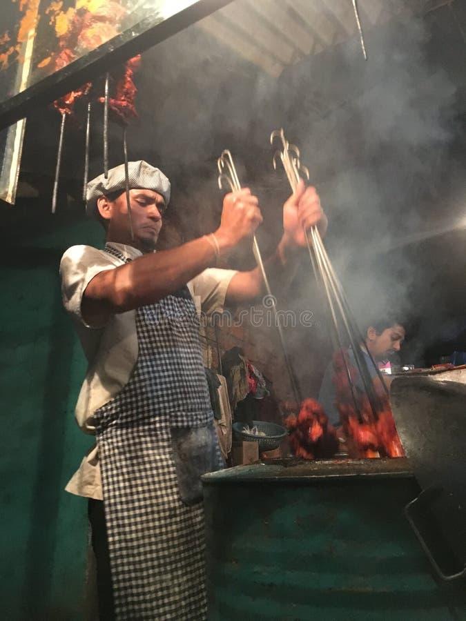 Indische het koken tandoori royalty-vrije stock afbeeldingen