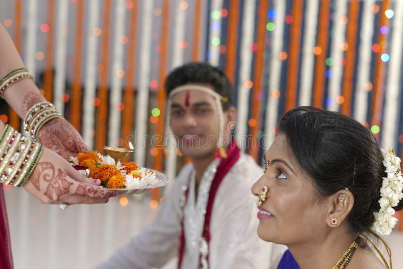 Indische Hindoese huwelijksrituelen royalty-vrije stock foto's