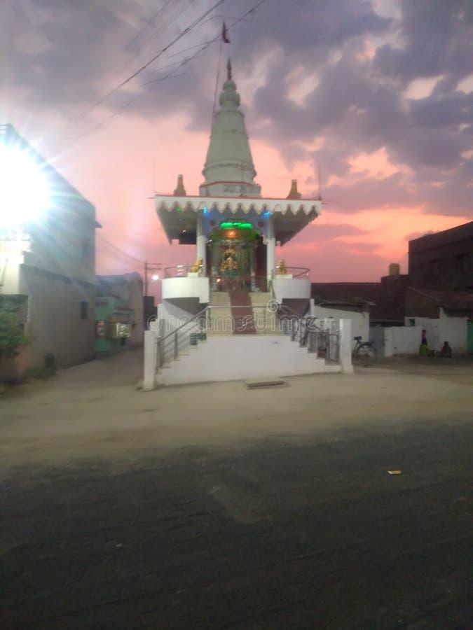 Indische Hindoese tempels in Durga Mandir stock foto