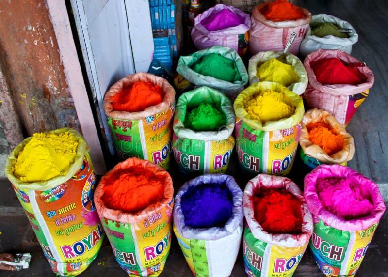 Indische hinduistische Farben stockbilder