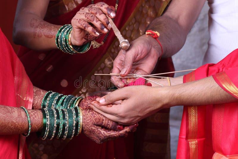 Indische Hochzeit stockfotos