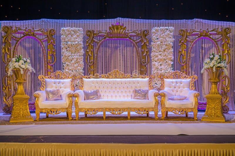 Indische Hochzeits-Stufe stockfotografie